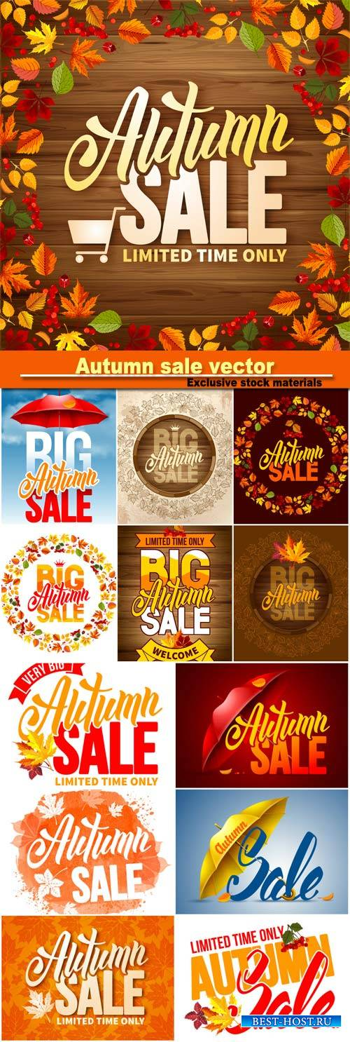 Backgrounds Autumn sale vector