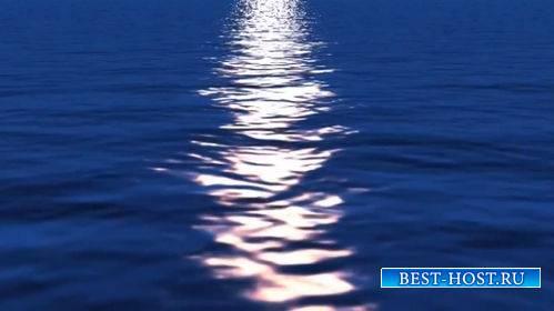Футаж - Лунная дорожка на воде