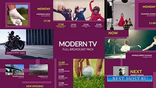 Современный телевизор - полный телевизионный пакет - Project for After Effe ...
