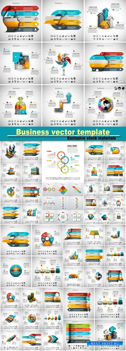 Vector illustration of different infographic templates
