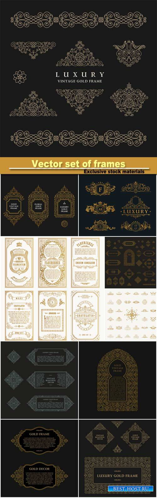 Vector set of , design template, vintage logo set