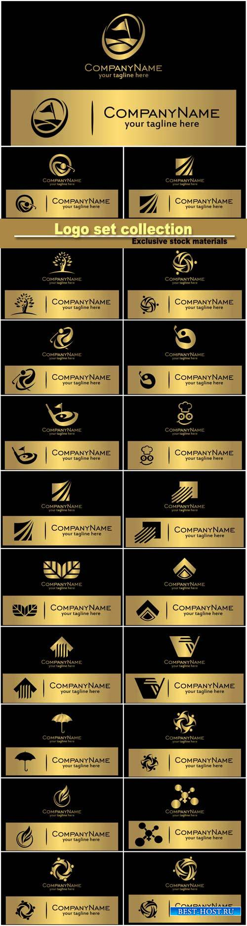 Vector business logo set collection