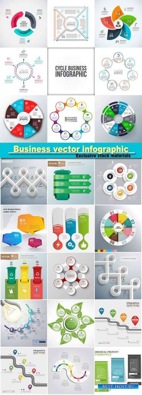 Business abstract vector infographic