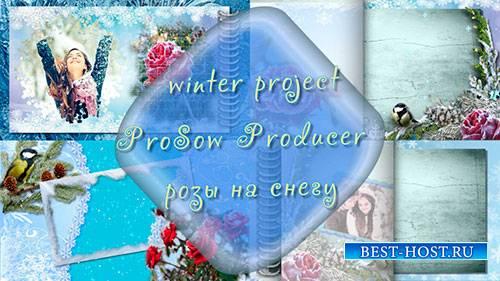 Проект для ProShow Producer - Розы на снегу