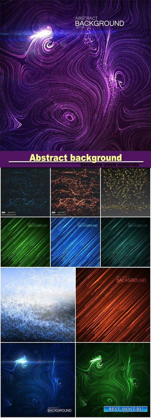 Abstract background with glowing random lines and sparkles