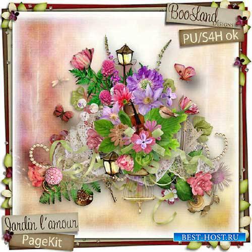 Романтический скрап-набор - Сад любви