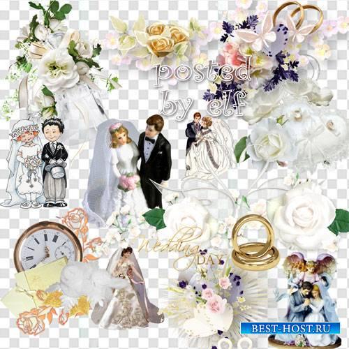 Кластеры и клипарты png для свадебного дизайна