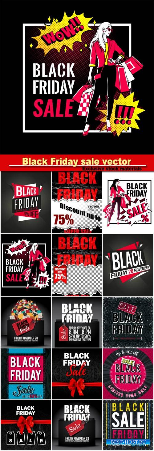 Black Friday sale vector banner