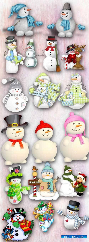Скрап - Забавные снеговички