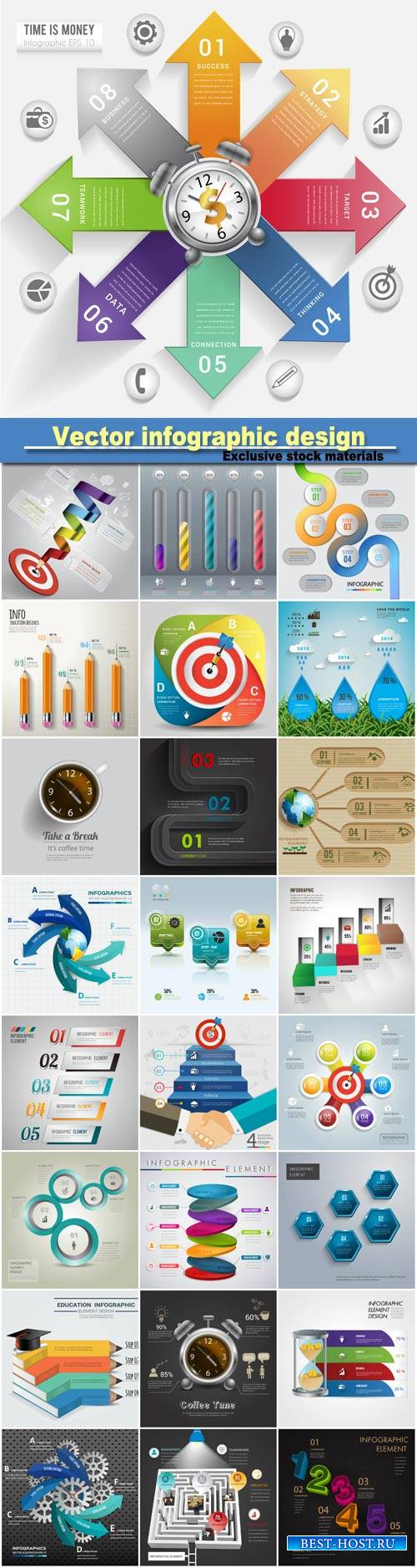 Vector infographic design and elelment