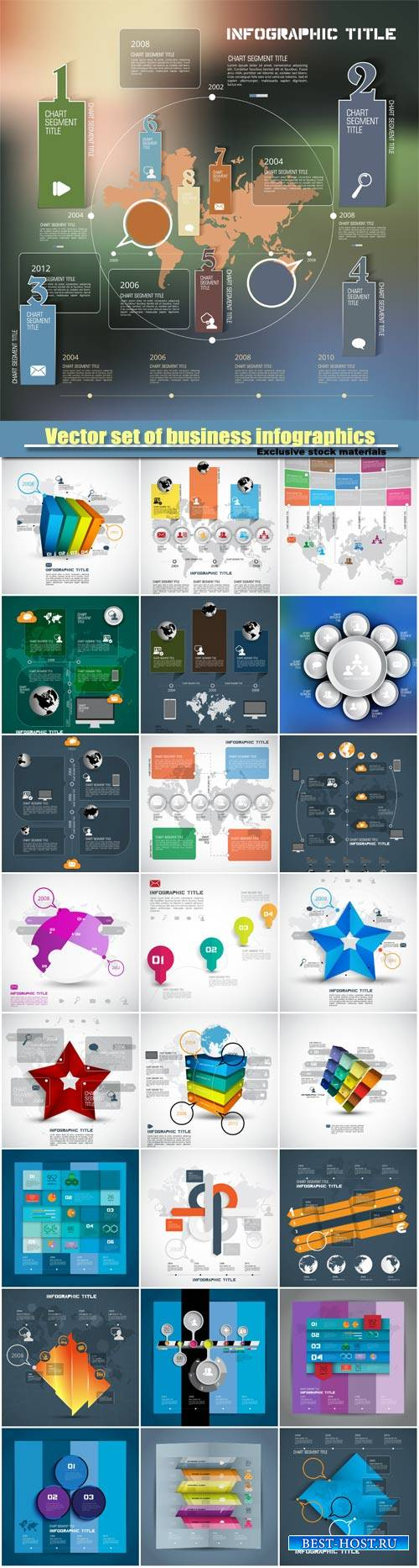 Vector set of business infographics