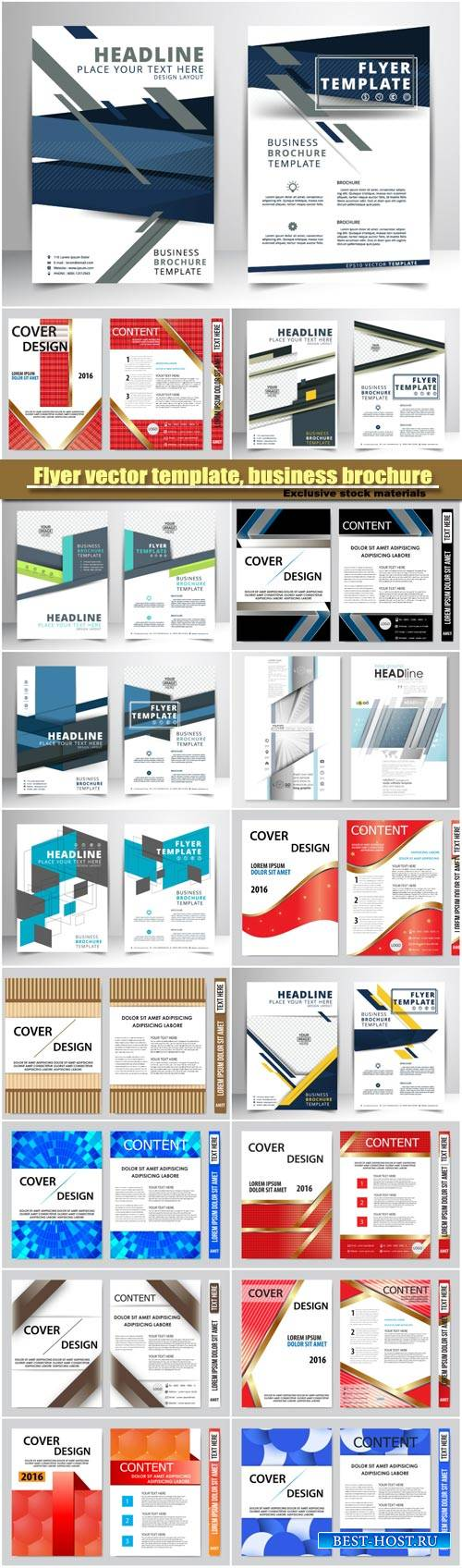 Flyer vector template, business brochure