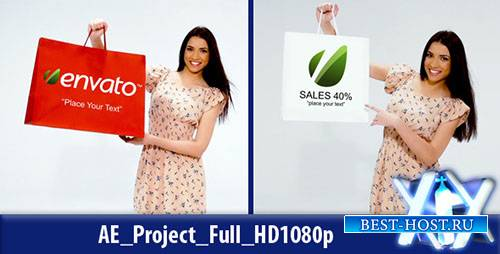 Shopping Girl - Project for After Effects (Videohive)