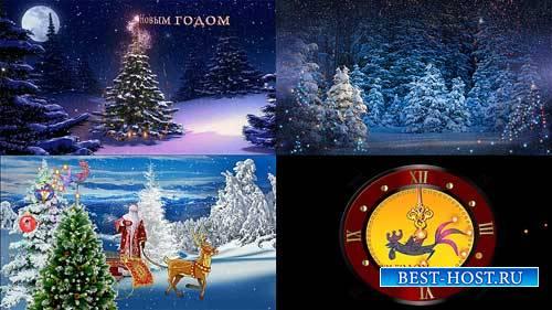 Футажи новогодние фоны - Как прекрасен зимний лес