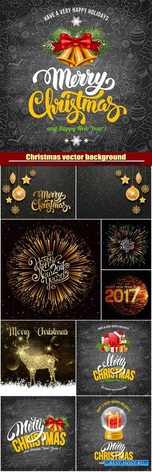 Christmas vector background with festive elements