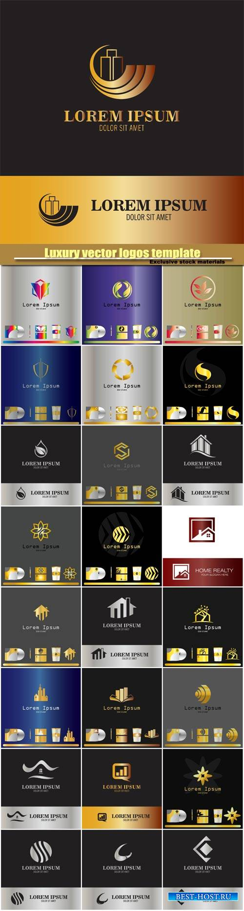 Abstract business vector logos template