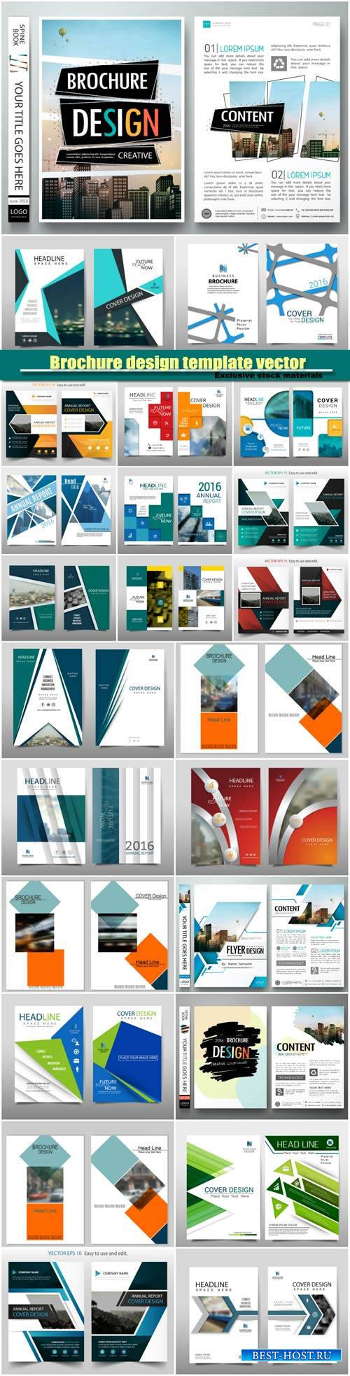 Brochure design template vector layout, cover book portfolio presentation p ...
