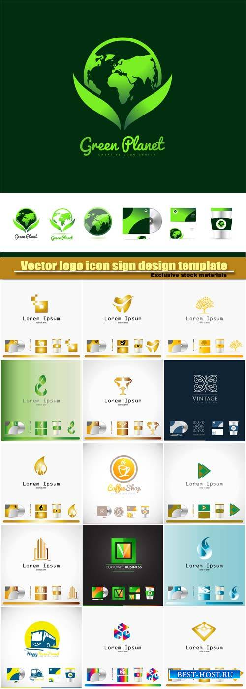 Vector logo icon sign design template corporate identity