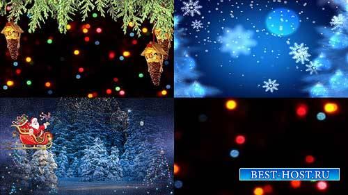 Футажи новогодние фоны - Зайди в сказку