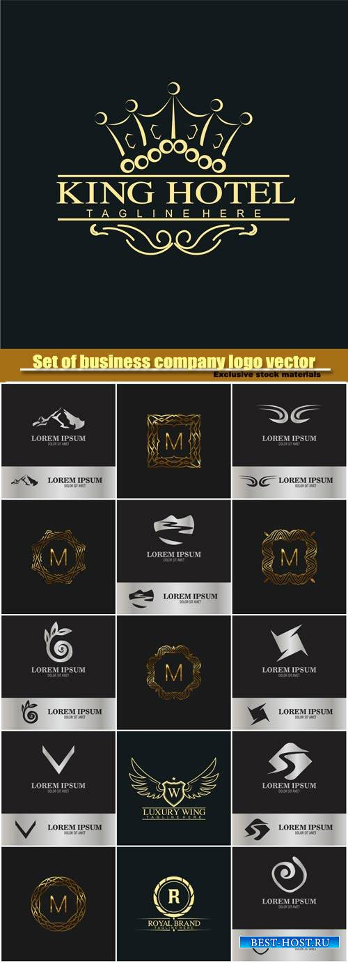 Vector monogram  and business company logo
