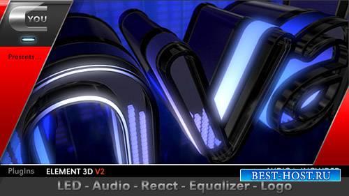 Светодиодный Аудио реагируют логотип эквалайзер - Project for After Effects ...