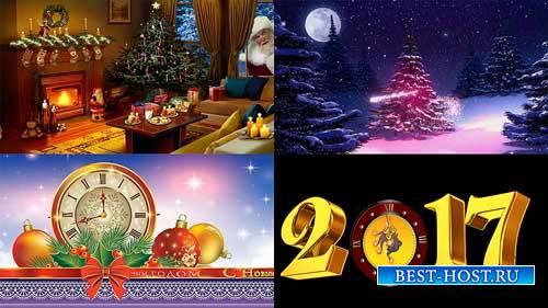Футажи новогодние фоны - Можно встретить Новый год