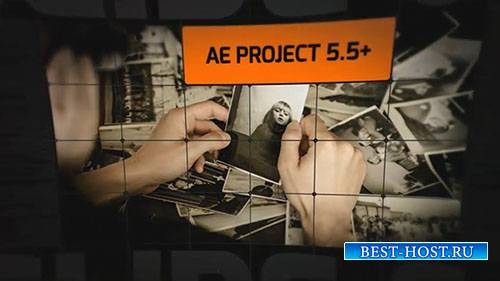 3D фрагмент открывалка слайд-шоу - After Effects Templates