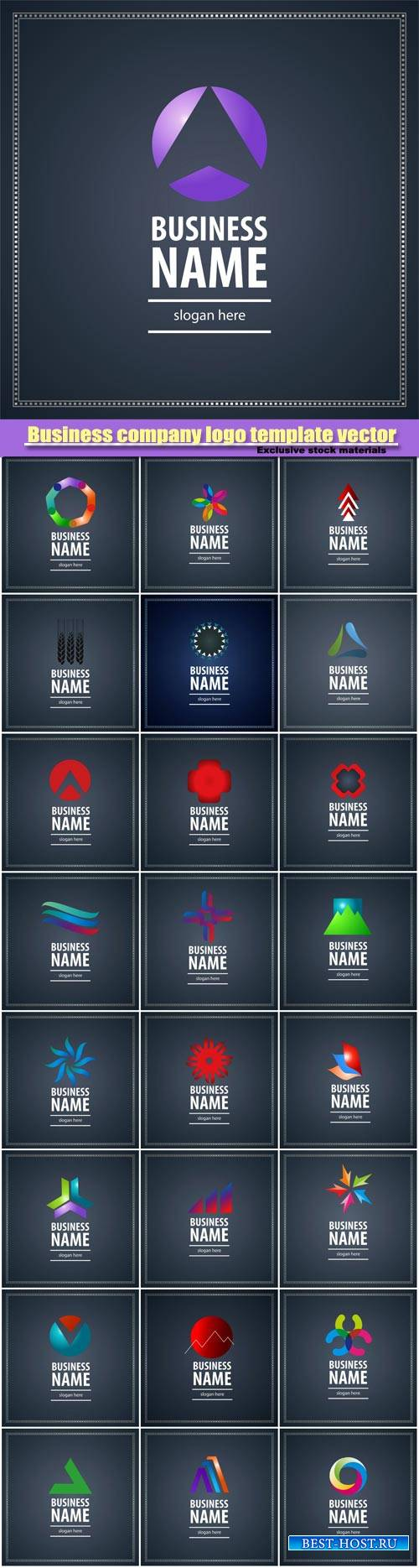 Vector set of business logos