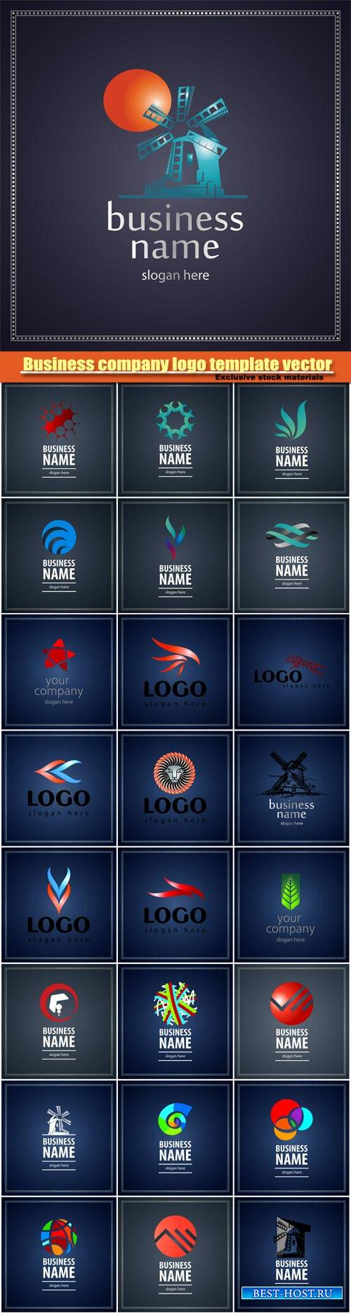 Vector collection of business logos