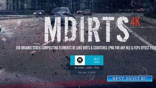 mDirts - 4K Scratch and Dirt Elements