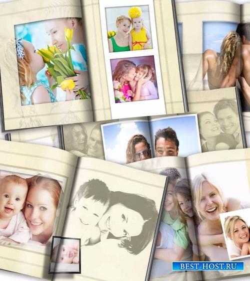 Универсальный альбом с рамками для фотографий