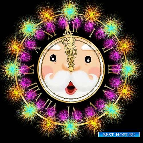 Футажи новогодние - Говорящие часы