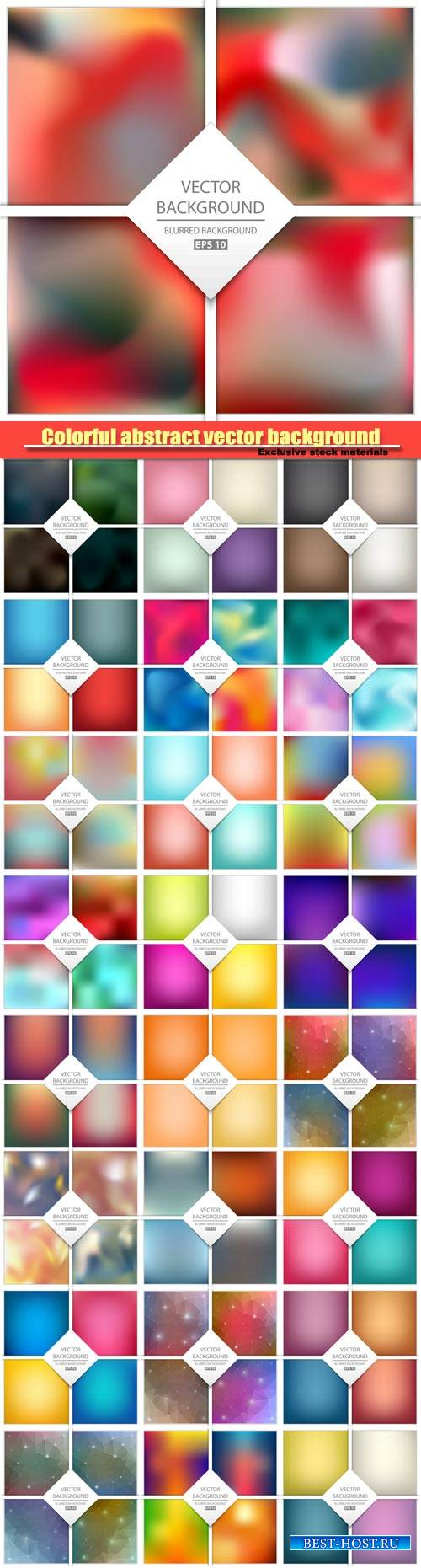 Multicolored abstract vector background, art illustration template design
