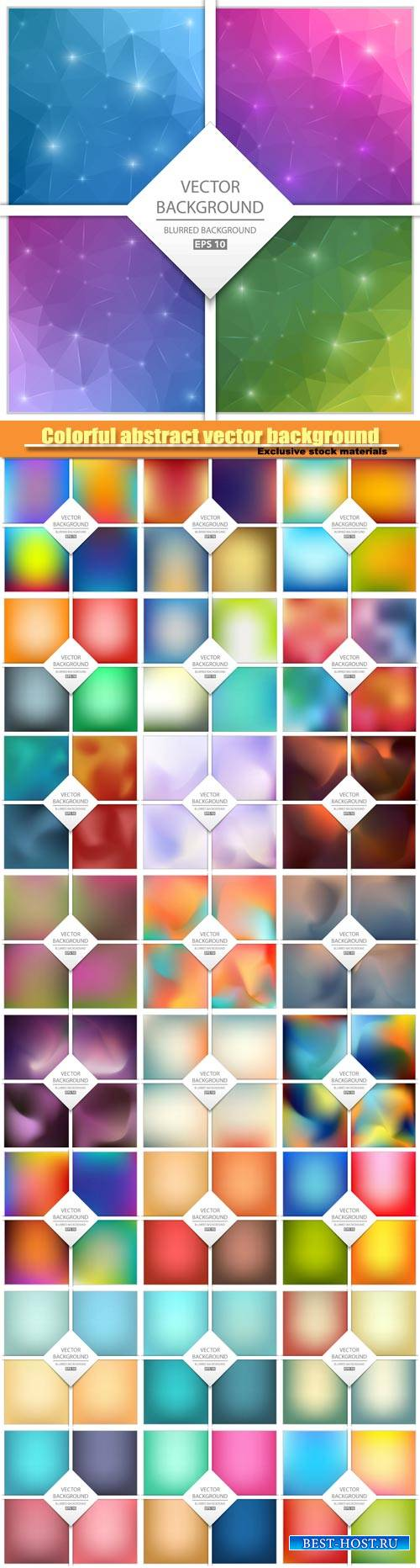 Colorful abstract vector background, art illustration template design