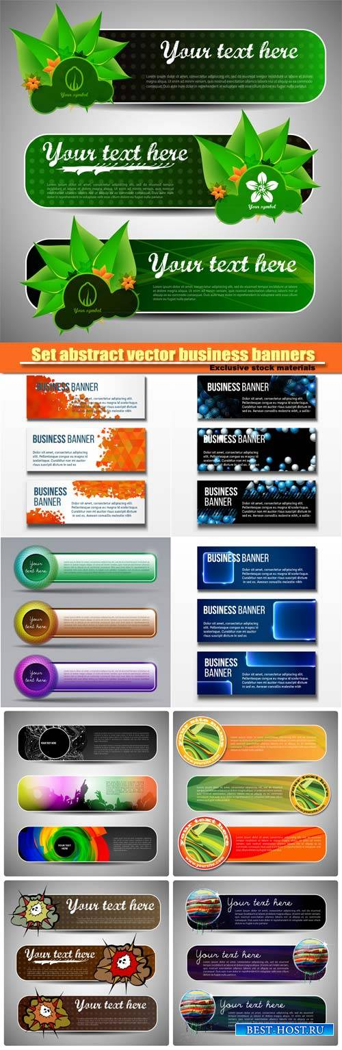 Set abstract vector business banners