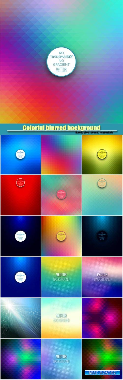 Colorful blurred background with halftone effect overlay, abstract backgrou ...