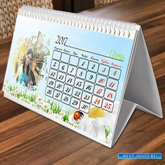 Настольный перекидной календарь на 2017 год - Дружная семья