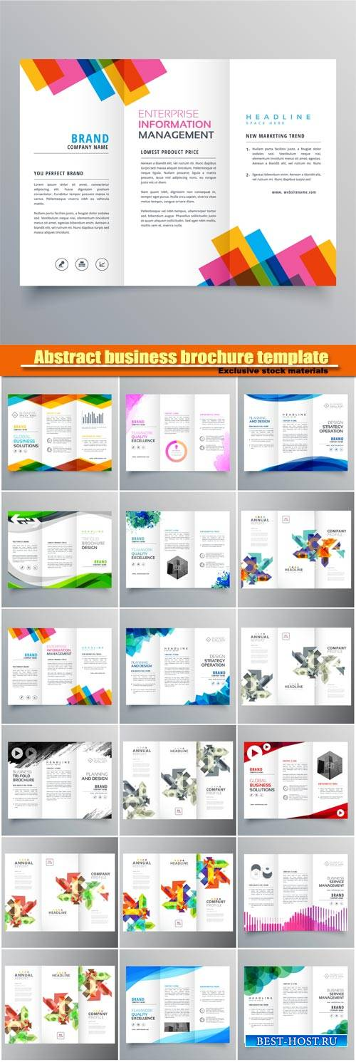 Abstract business brochure template in creative style