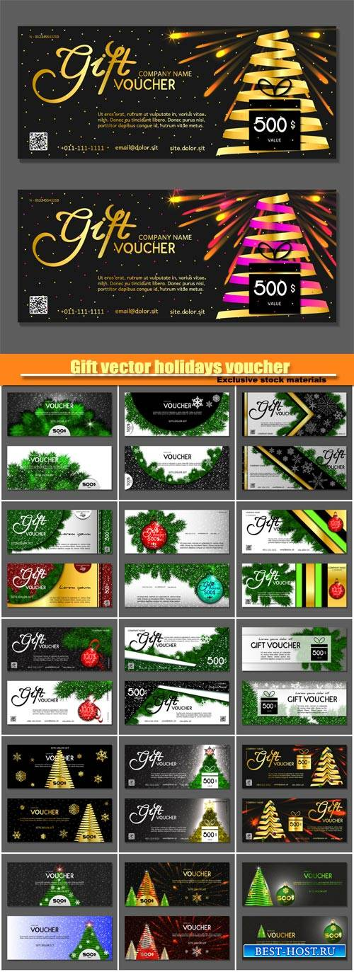 Gift vector holidays voucher