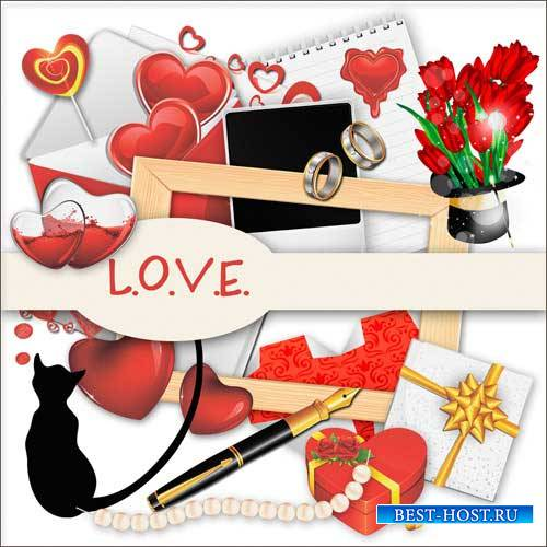 Романтический скрап-набор - Любовь