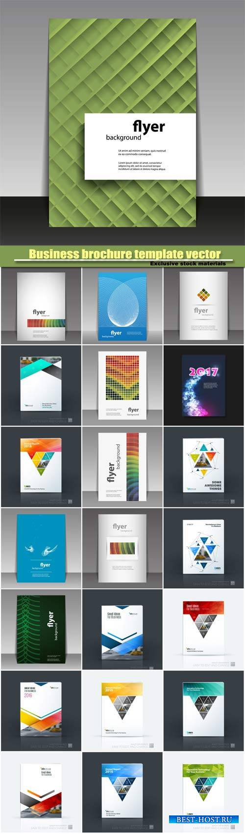 Business brochure template vector design, abstract creative design