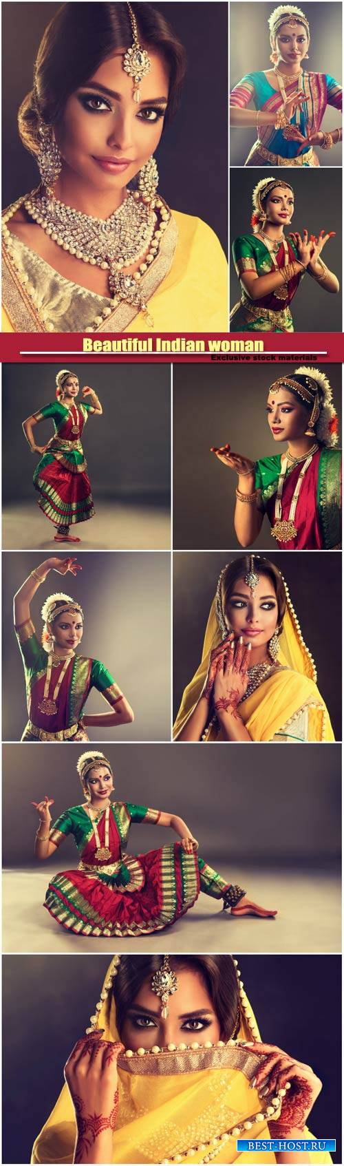 Beautiful Indian woman in traditional dress