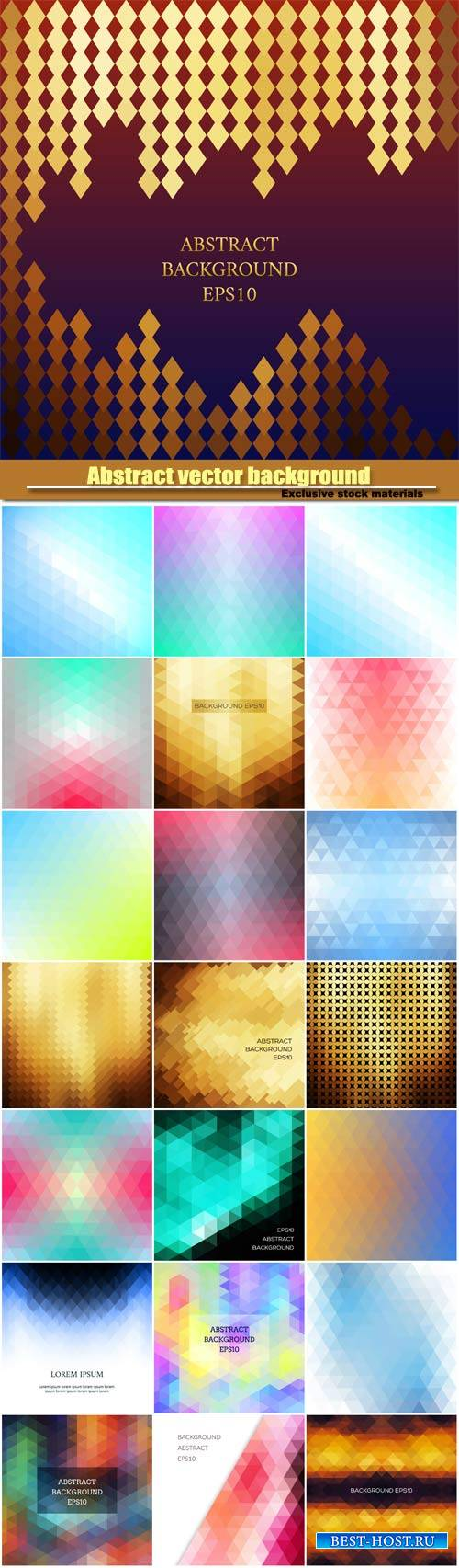 Abstract vector background in isometric style, geometric pattern