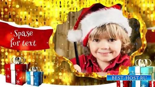 Проект Производитель ProShow - С Рождеством Христовым Золотой фон