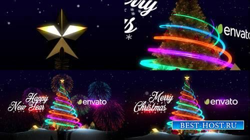 Рождественская Елка И Новогодние Поздравления - Project for After Effects ( ...