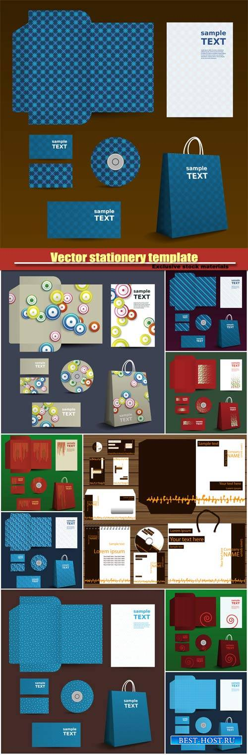 Vector stationery template, business template