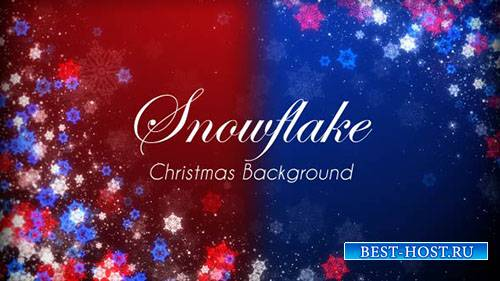 Снежинка Рождественские Мероприятия Сверкающий Фон - Motion Graphics (Video ...