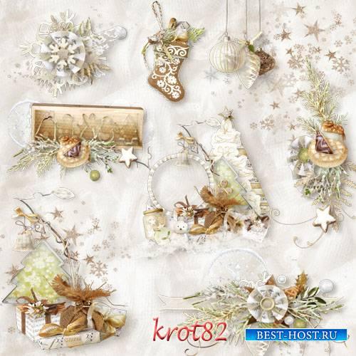 Кластеры PNG новогодние, рождественские, зимние – Зимний вечер