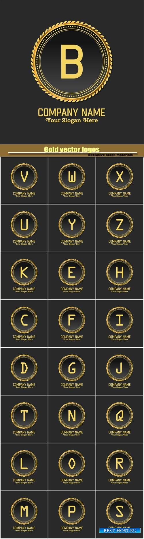 Gold vector logos
