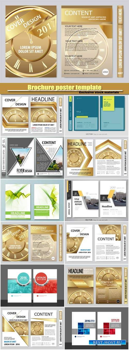 2017 book cover vector business flyers presentation, brochure poster templa ...